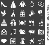 vector set of 25  white wedding ... | Shutterstock .eps vector #187847588