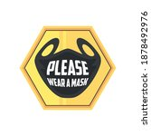 prevention of covid 19  sign... | Shutterstock .eps vector #1878492976