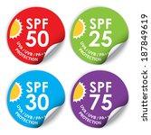 uva   uvb   pa   sun protection ... | Shutterstock . vector #187849619