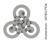 Triquetra Knot Sign Made Of Two ...