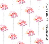 Abstract Flowers With...
