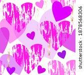 seamless vector pattern. pink ... | Shutterstock .eps vector #1878568306