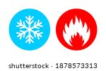 vector illustration of hot and... | Shutterstock .eps vector #1878573313