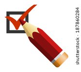 pencil with check box icon ... | Shutterstock .eps vector #187860284