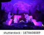 nativity scene in silhouettes... | Shutterstock . vector #1878608089