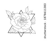 silhouette  of roses tattoo...   Shutterstock . vector #1878611383