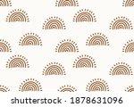 brown sun or rainbow seamless... | Shutterstock . vector #1878631096