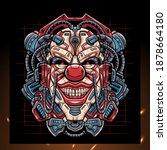 Clown Head Mecha Robot Mascot....