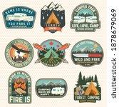 set of rv camping badges ...   Shutterstock .eps vector #1878679069