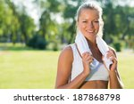 young attractive woman with a... | Shutterstock . vector #187868798