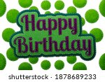 stitched happy birthday concept ... | Shutterstock . vector #1878689233
