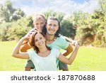 happy couple together with...   Shutterstock . vector #187870688