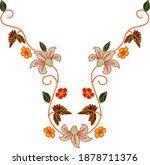 modern stylish neck embroidered ...   Shutterstock .eps vector #1878711376