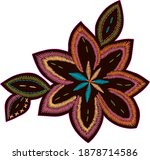 colorful stitch texture...   Shutterstock .eps vector #1878714586