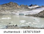 Glacier Du Grand Mean And Lake...