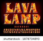 an alphabet with swirly blobs...   Shutterstock .eps vector #1878734893