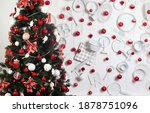 beautifully decorated christmas ... | Shutterstock . vector #1878751096