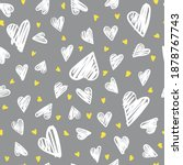 seamless romantic pattern with... | Shutterstock .eps vector #1878767743