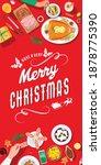 christmas festive dinner ... | Shutterstock .eps vector #1878775390