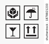 set of packaging icons design...