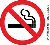 no smoking allowed sign   Shutterstock . vector #187882373