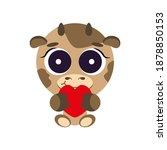 cute cheerful  childish ... | Shutterstock .eps vector #1878850153