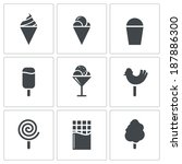 sweets and ice cream icon set | Shutterstock .eps vector #187886300