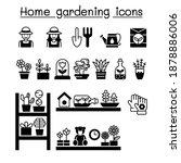 home gardening icons set vector ...   Shutterstock .eps vector #1878886006