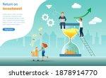 return on investment  time is... | Shutterstock .eps vector #1878914770