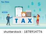 income tax filing  tax return ...   Shutterstock .eps vector #1878914776