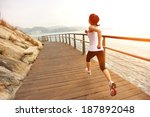 healthy lifestyle sports woman... | Shutterstock . vector #187892048