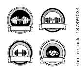 healthy sports vector heart ... | Shutterstock .eps vector #187894034