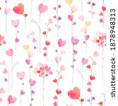 Hearts Seamless Pattern With...