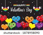 happy  valentine s day. lgbt... | Shutterstock .eps vector #1878958090