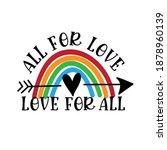 all for love love for all  ... | Shutterstock .eps vector #1878960139