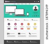 flat modern web design elements ...