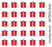 Vector Pattern Of Red Gift...