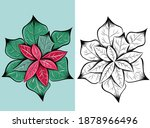 Christmas Poinsettia Flower...