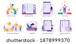 survey vector illustration set. ...   Shutterstock .eps vector #1878999370