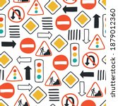 Cute Seamless Pattern With Road ...
