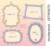cute frames vector set. 4... | Shutterstock .eps vector #187903070
