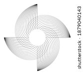 lines in circle form . spiral... | Shutterstock .eps vector #1879040143