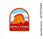 devils tower with retro designs ... | Shutterstock .eps vector #1879070689