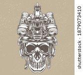 skull design wearing a tactical ... | Shutterstock .eps vector #1879073410