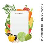 paper sheet recipe with... | Shutterstock .eps vector #1879076443