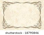 elegant classical frame.   Shutterstock .eps vector #18790846