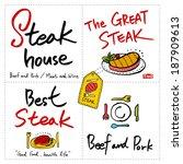 restaurant poster   Shutterstock .eps vector #187909613