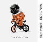 moon rider slogan with cartoon... | Shutterstock .eps vector #1879107040