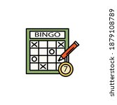 bingo line icon. signs and...