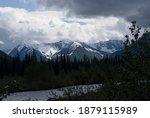 Snowy Mountains In The Alaskan...